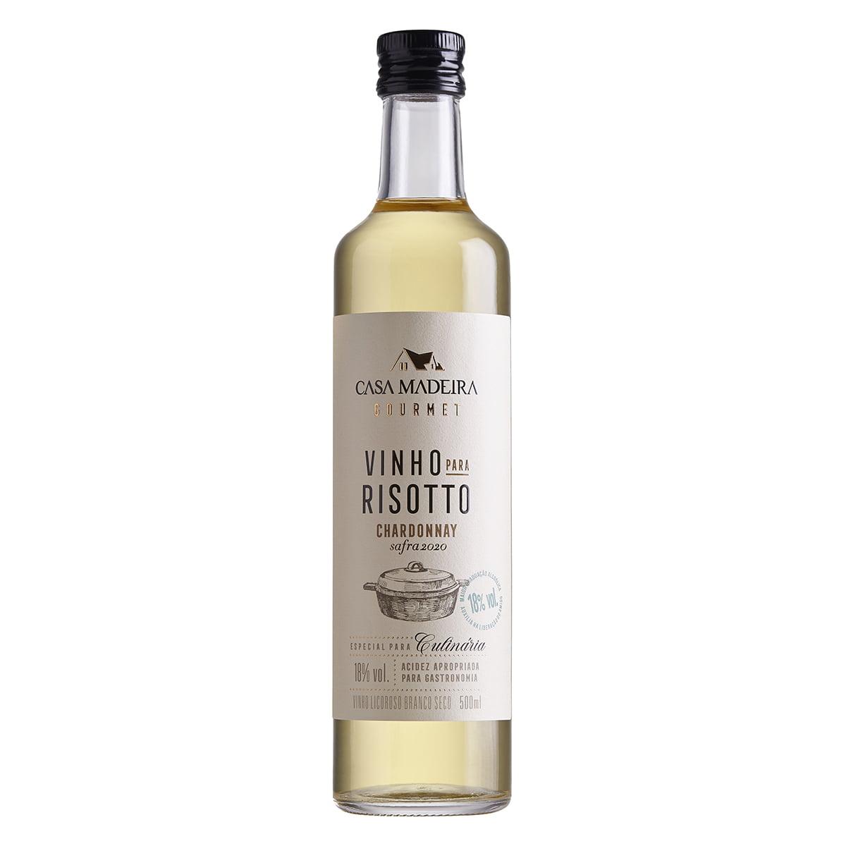 Vinho para Risotto Casa Madeira Licoroso Chardonnay 500ml