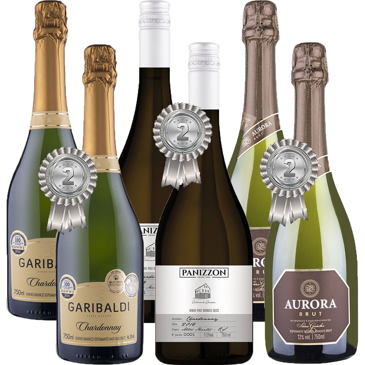 Premiados Chardonnay du Monde Edição 2021 Kit  C/6