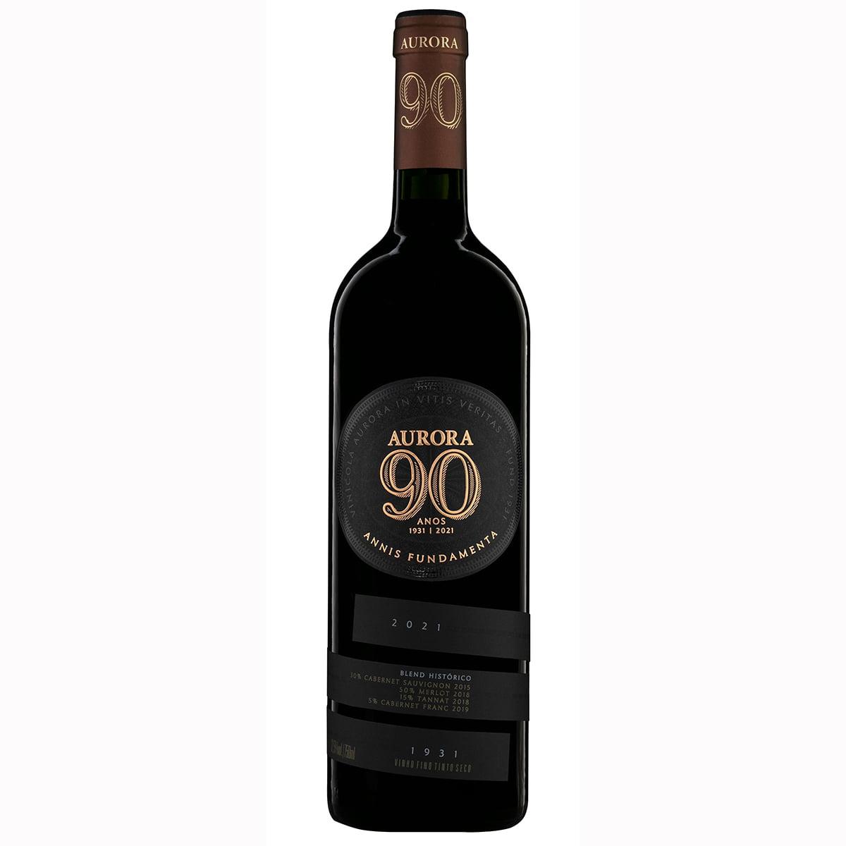 Vinho Aurora Edição 90 Anos Tinto Seco 750ml