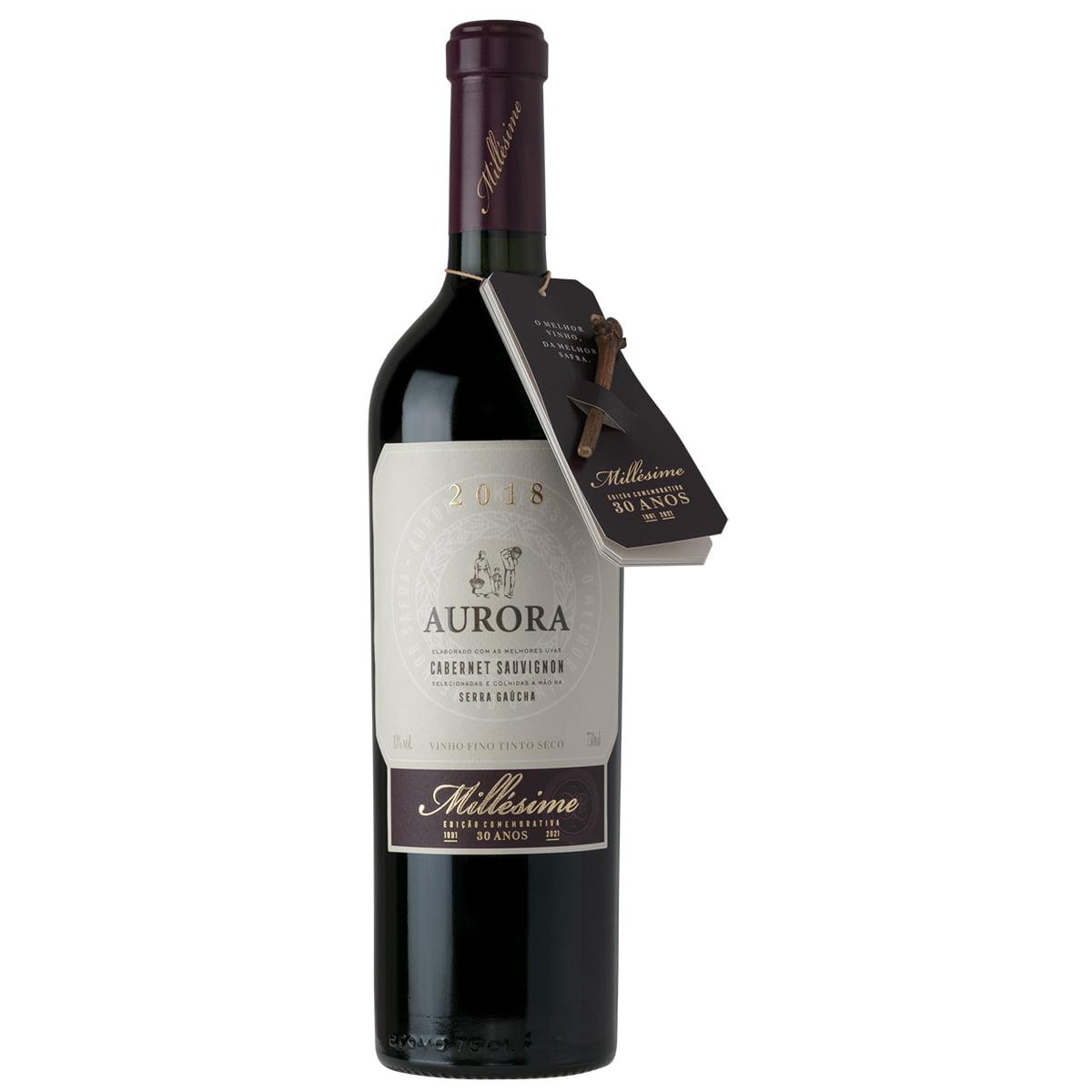 Vinho Aurora Millésime Safra 2018 Cabernet Sauvignon Tinto Seco 750ml