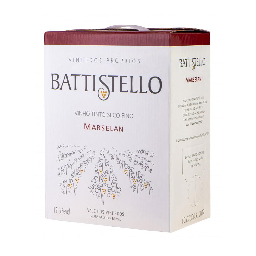 Vinho Battistello Marselan Tinto Seco Bag in Box 3Lts