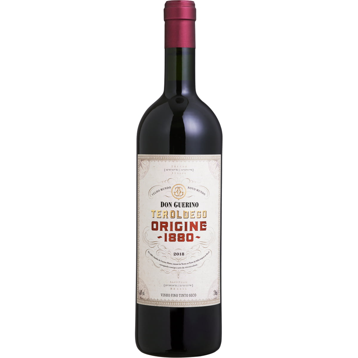 Vinho Don Guerino Reserva Teroldego Origine 1880 Tinto Seco 750ml