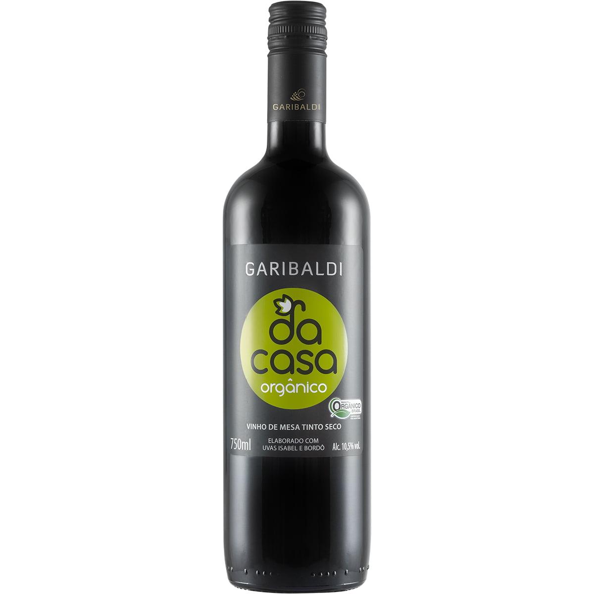 Vinho Garibaldi Da Casa Tinto Seco Orgânico 750ml