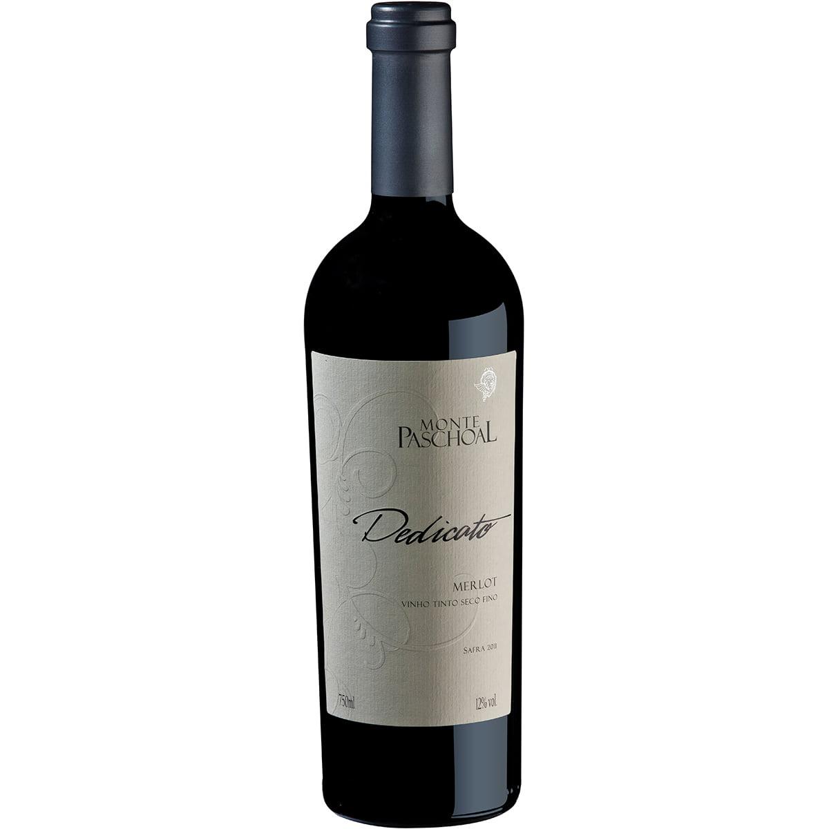 Vinho Monte Paschoal Dedicato Merlot Tinto Seco 750ml