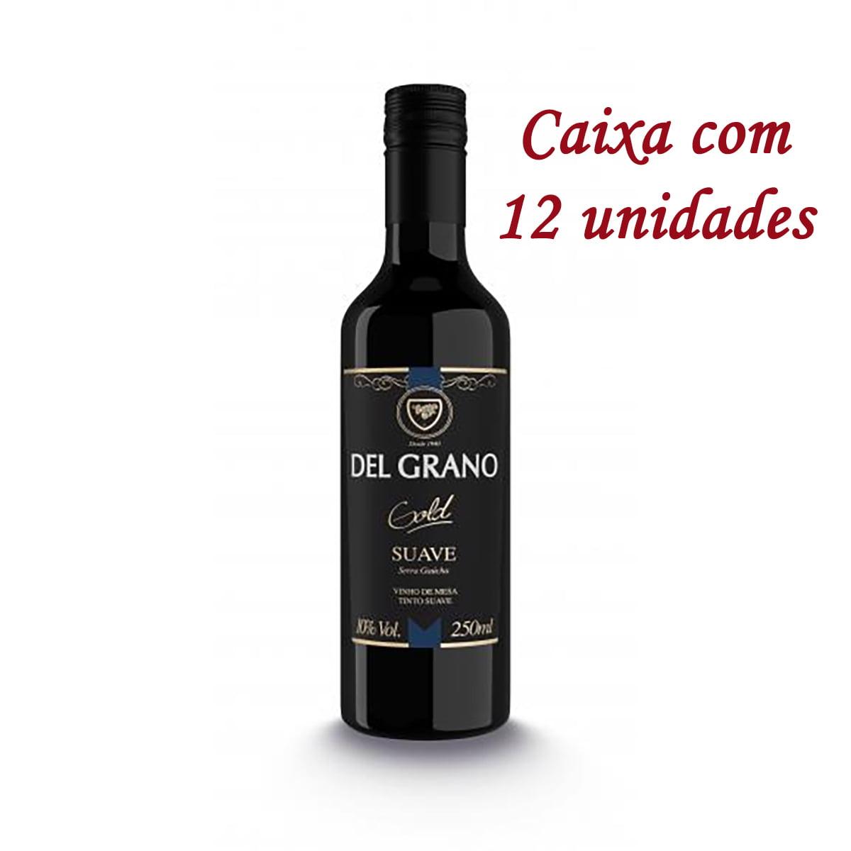 Vinho Monte Paschoal Del Grano Gold Tinto Suave 250ml C/12