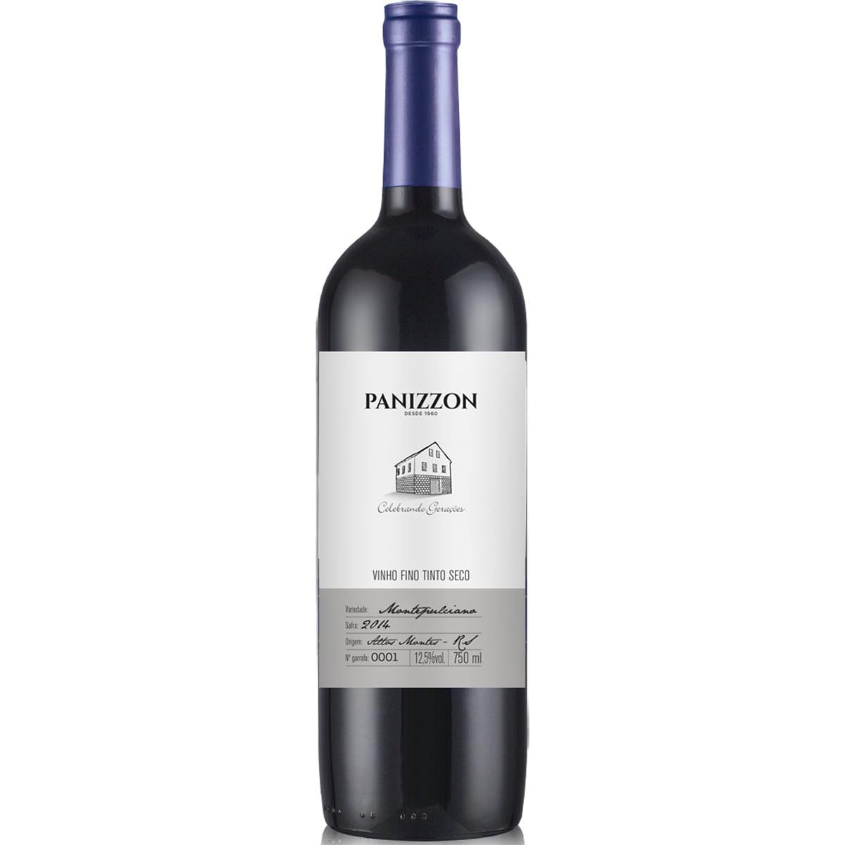 Vinho Panizzon Montepulciano Tinto Seco 750ml