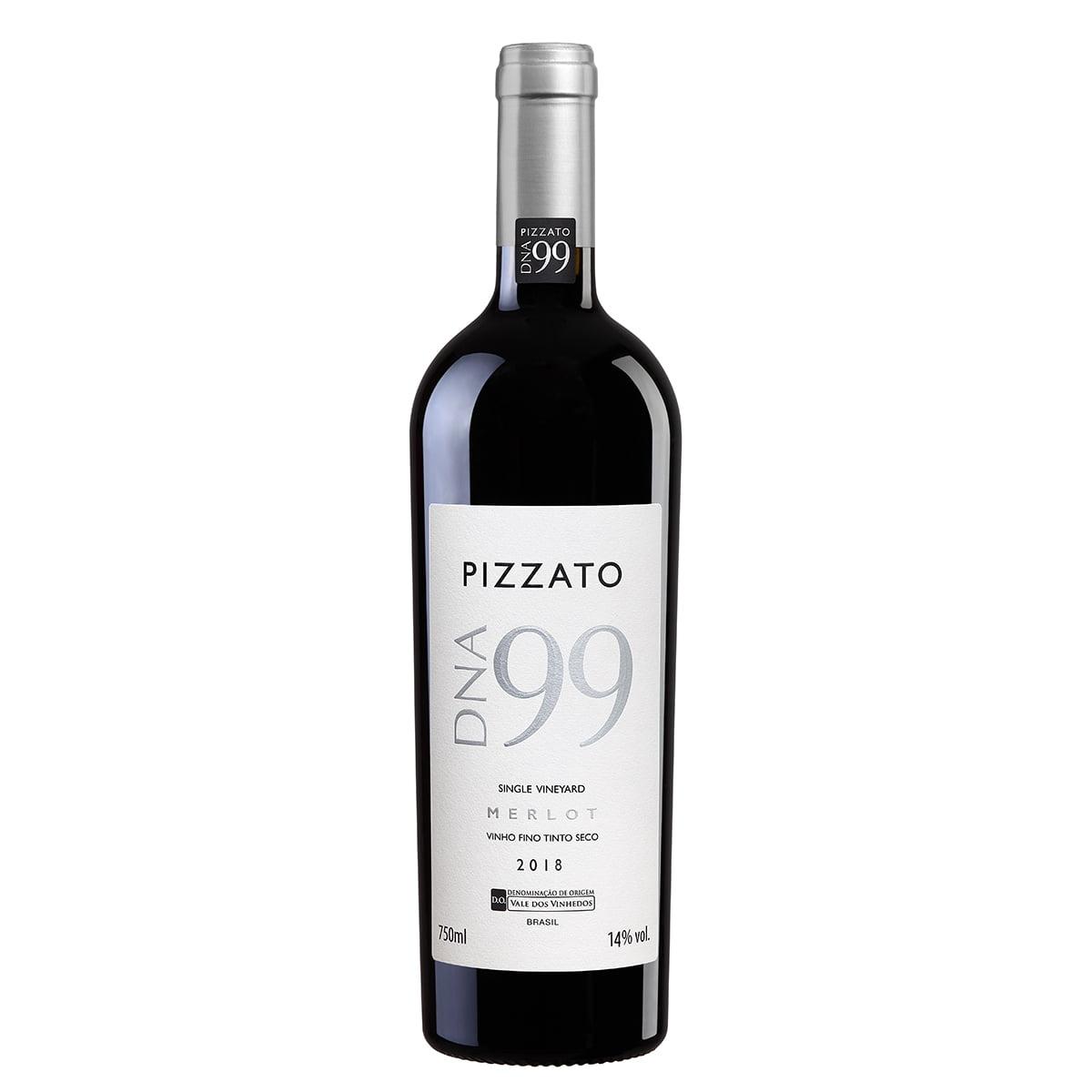 Vinho Pizzato DNA 99 Safra 2018 Merlot Tinto Seco 750ml