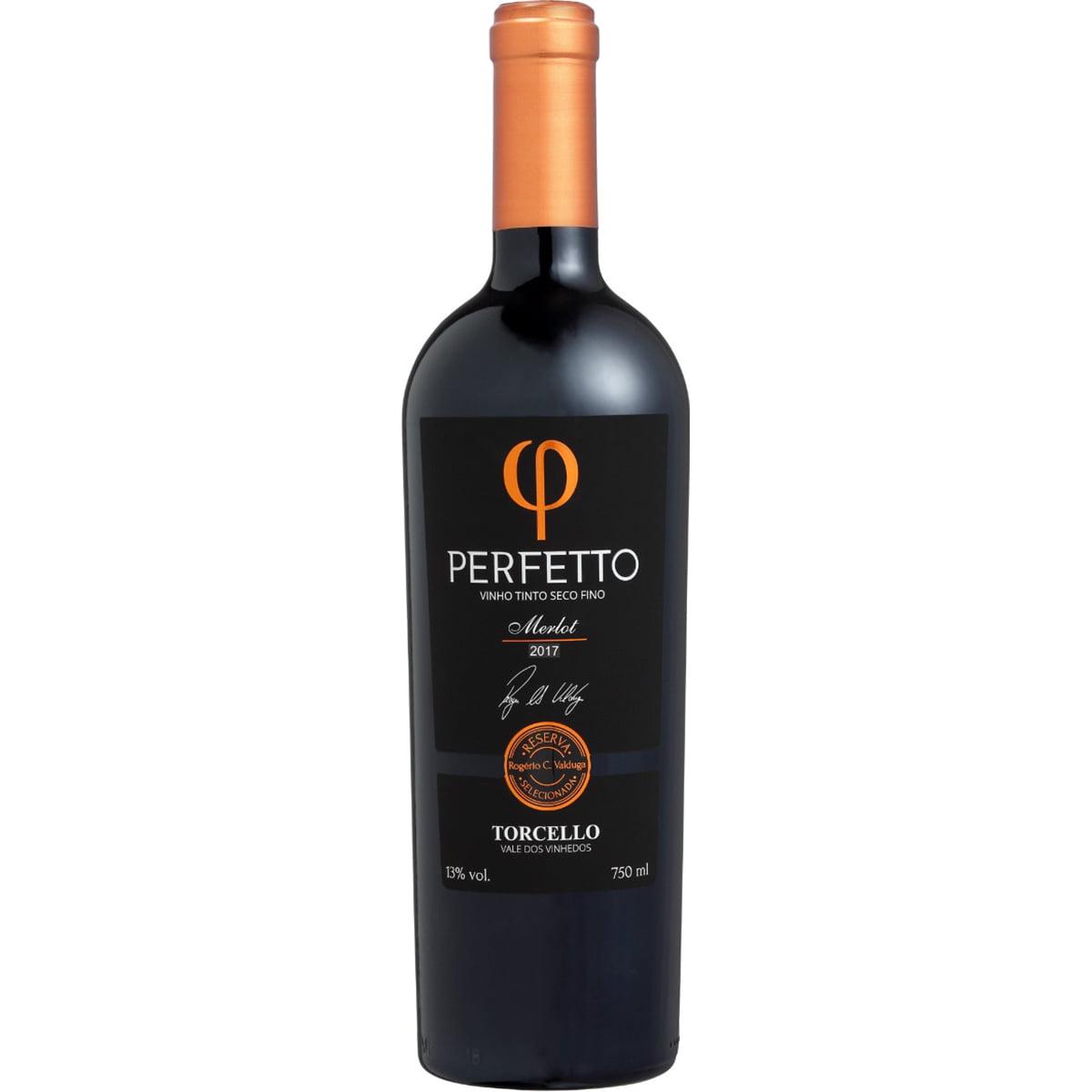 Vinho Torcello Perfetto Merlot 2017 Tinto Seco 750ml