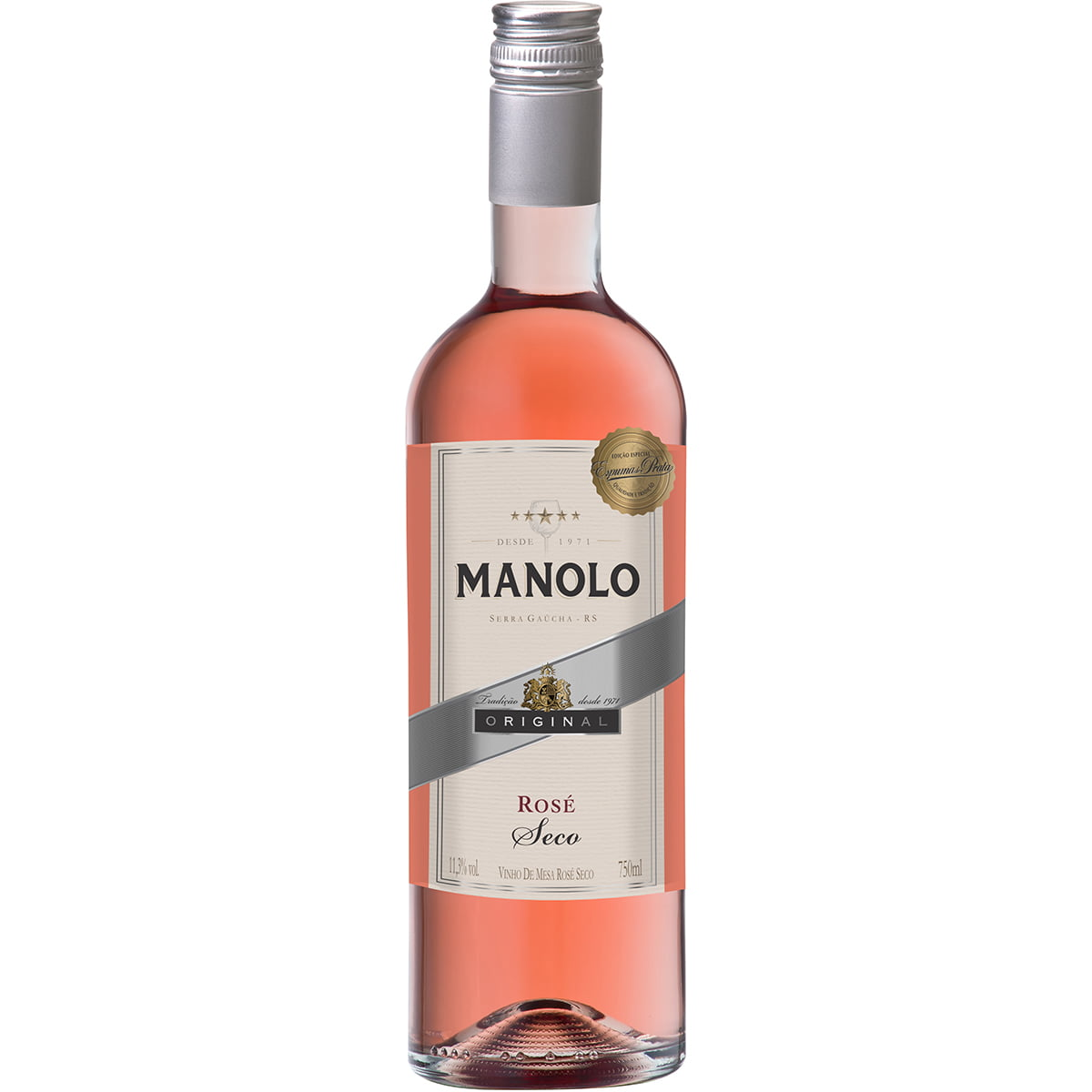 Vinho Peterlongo Manolo Rosé Seco 750ml