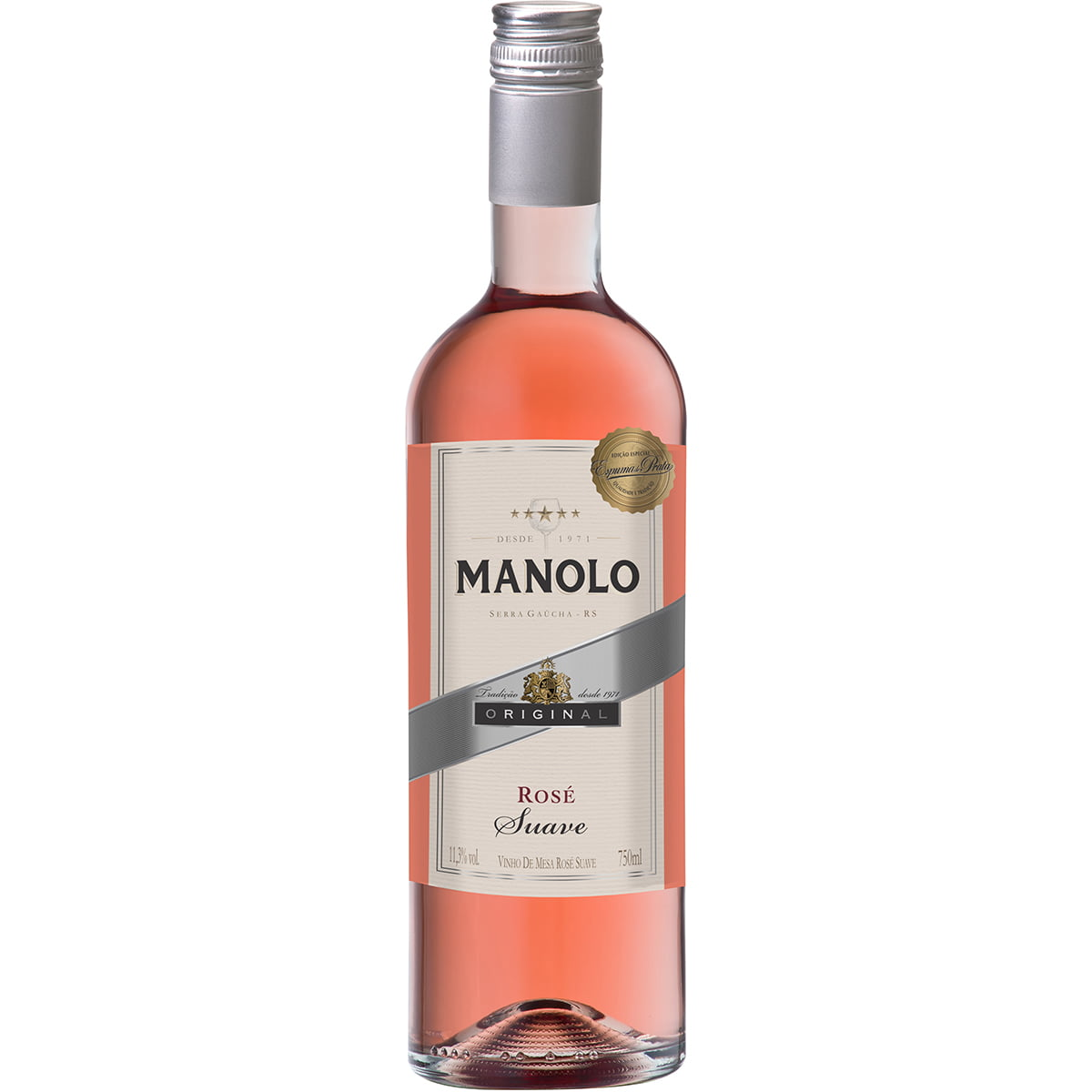 Vinho Peterlongo Manolo Rosé Suave 750ml